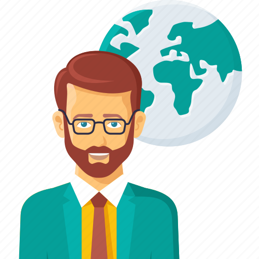 business, country, earth, global, man, person, planet, world icon