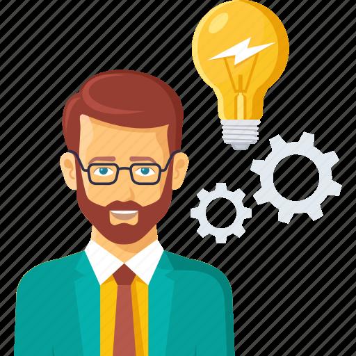business, creative, gear, idea, inovation icon
