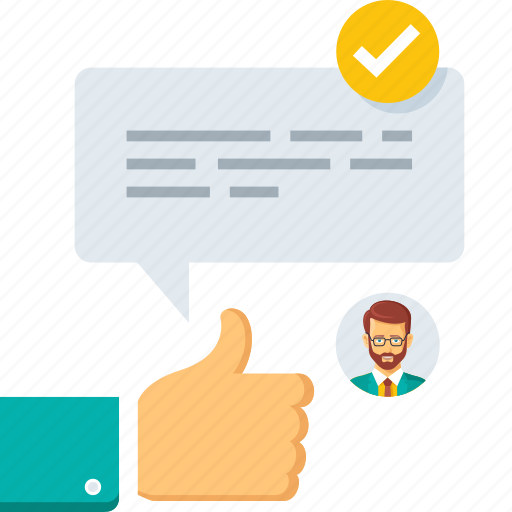 check, comment, conversation, deal, email, feedback, message icon