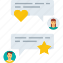chat, comment, conversation, feedback, message, rating, review, text icon