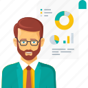 analysis, business, finance, graph, presentation, report icon