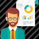 analysis, business, finance, graph, presentation, report