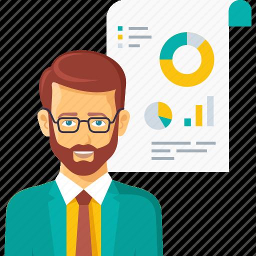 analysis, business, finance, graph, presentation, report icon