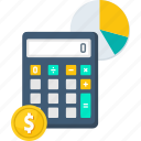 accounting, business, calculate, calculator, finance, mathematics, money icon