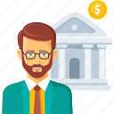 bank, business, finance, invest, investment, loan, money icon