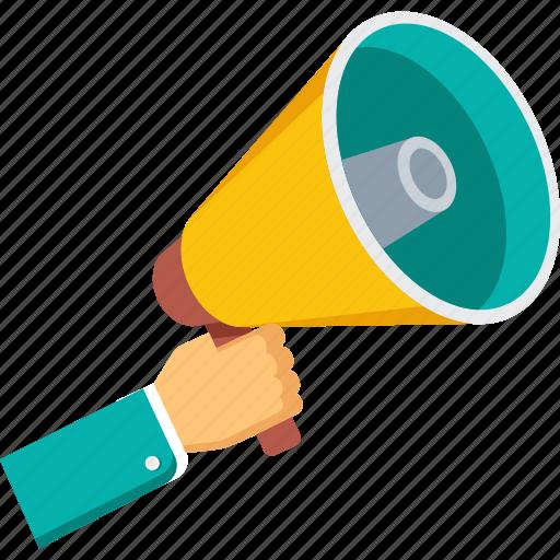 advertising, announcement, business, loudspeaker, marketing, megaphone, offer, promotion, sale icon