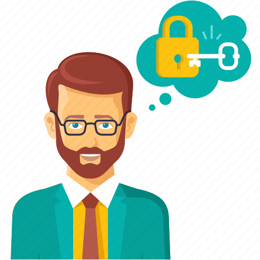 business, idea, key, lock, password, protection icon