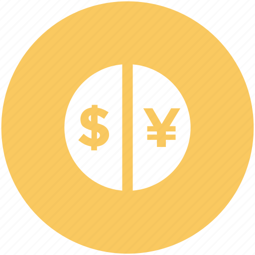 banking, currency exchange, dollar, dollar exchange, exchange, yen exchange icon