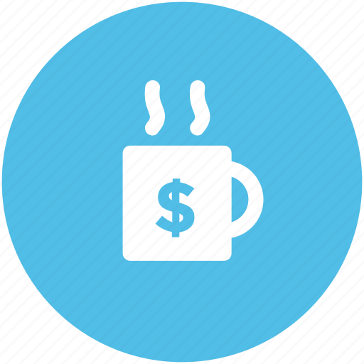 coffee, coffee cup, crockery, cup, dollar cup, tea, tea cup icon