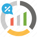 analytics, chat, diagram, graph, office, report, statistics icon