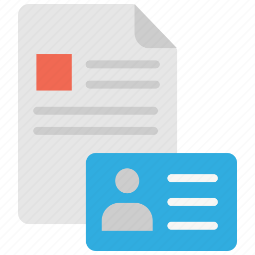 business, card, details, file, id, info, information icon