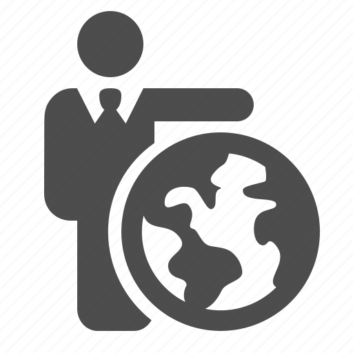 Business, businessman, earth, globe, man icon - Download on Iconfinder
