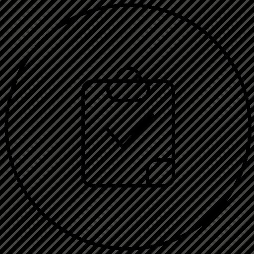 board, business, correct, note, right icon