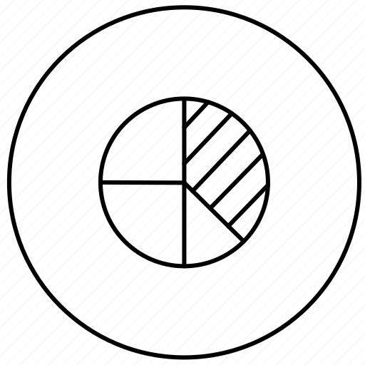 business, circle, diagram, statistics icon