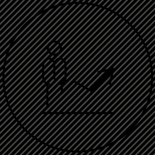 business, diagram, growth, progress icon