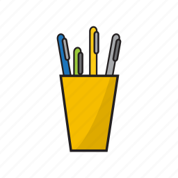 business, organized pen, pen, pencil icon