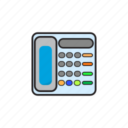 business, contact, phone, telephone icon