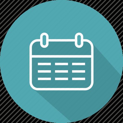 calendar, date, days, month, week icon