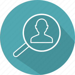 detective, find, magnifier, magnifying, person, search, searching icon