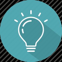 bulb, electricity, idea, illumination, light, technology icon