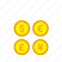 bank, business, coin, currency, finance, money icon