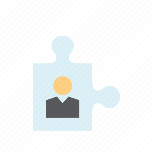 business, finance, jigsaw, man, people, piece, puzzle icon