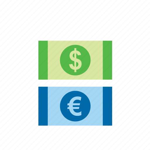 bill, business, dollar, euro, finance, money icon