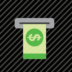 atm, bank, bill, business, dollar, finance, money icon