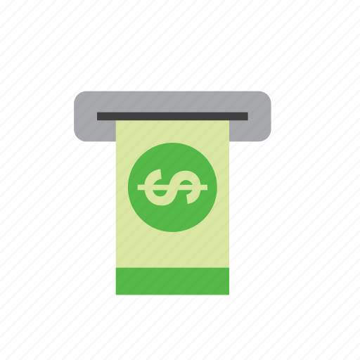 atm, bank, bill, business, dollar, finance, money icon