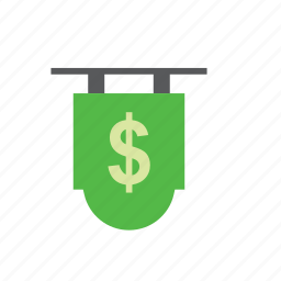 bank, business, dollar, finance, sign icon
