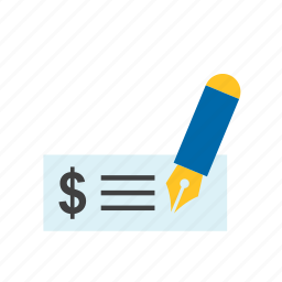 bank, business, check, dollar, finance, payment icon