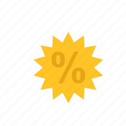 business, discount, finance, label, percentage icon