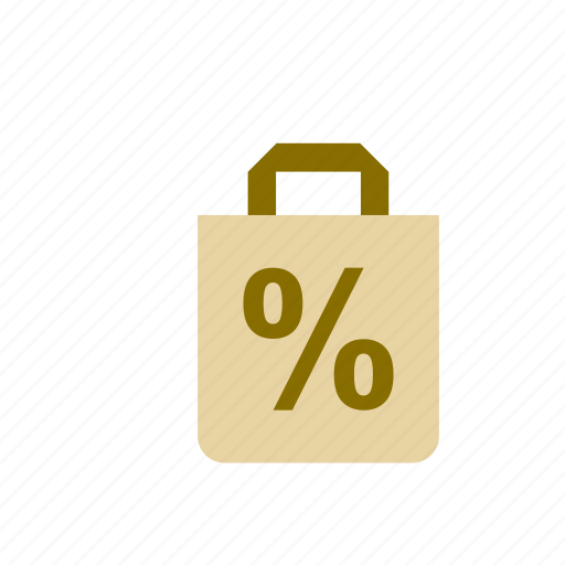 bag, business, discount, finance, percentage icon