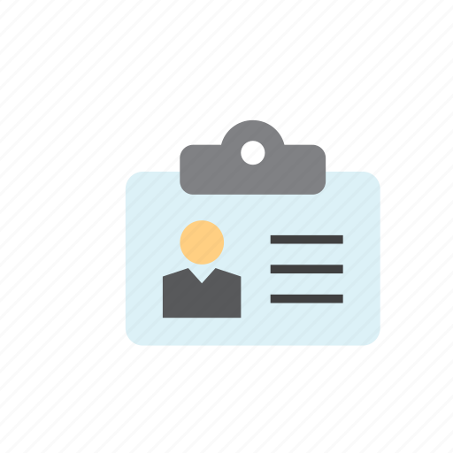 business, card, id, identification, identity, worker icon