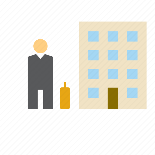 building, business, businessman, man, office, people, worker icon