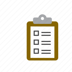 business, check, document, list icon