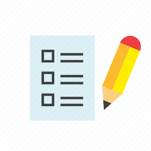 check, document, list, paper, pencil icon
