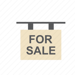 business, for sale, house, real estate, sign icon