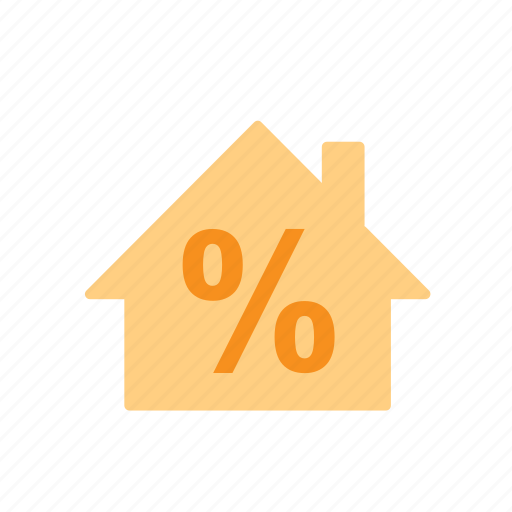 building, business, discount, house, percentage, real estate icon