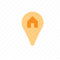 business, house, location, map, pin, pointer, real estate icon