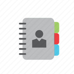 agenda, business, man, notebook, people icon