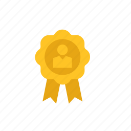 badge, business, employee, month, worker icon