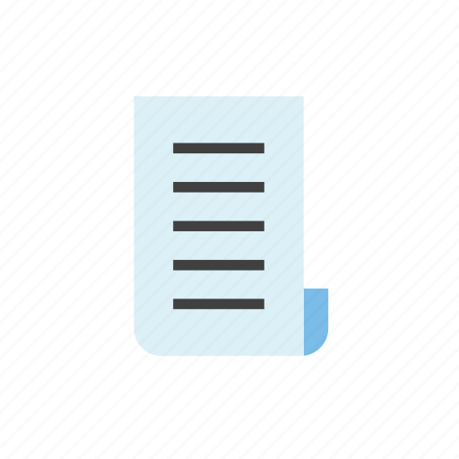 document, paper, text icon