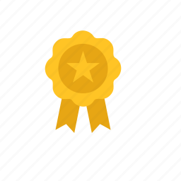 badge, business, star icon