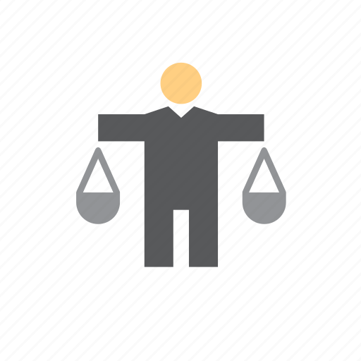 business, finance, man, people, scales icon