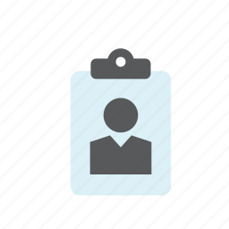 business, card, id, identification, identity, man, people icon