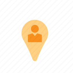 business, location, man, map, people, pin, pointer icon