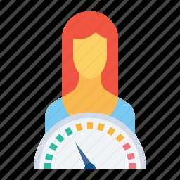 employee, esteem, indicator, performance, self icon