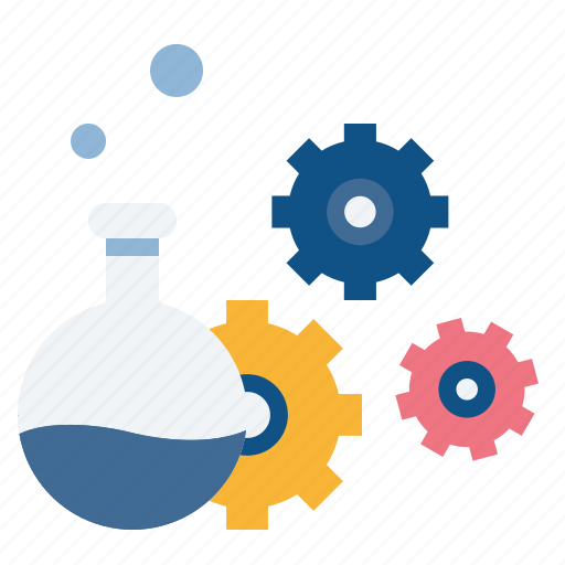 data, experiment, filteration, management, science, settings, solution icon