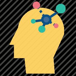 creative, head, idea, lateral, solution, thinking icon
